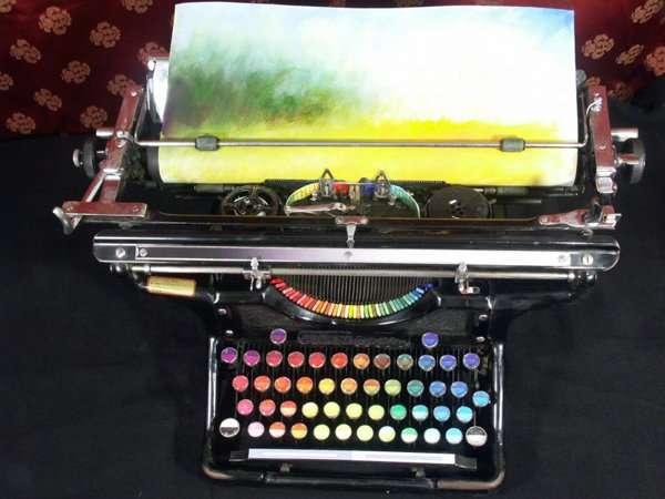 typewriter-paints-art